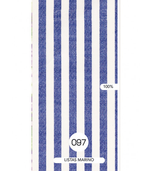 Mantel Estampado Rayas Azul Marino.