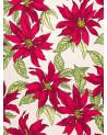 Mantel Estampado Flores rojas.