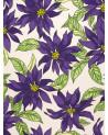 Mantel Estampado Flores lilas.