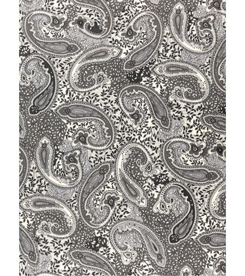 Mantel Estampado Kashmir gris.