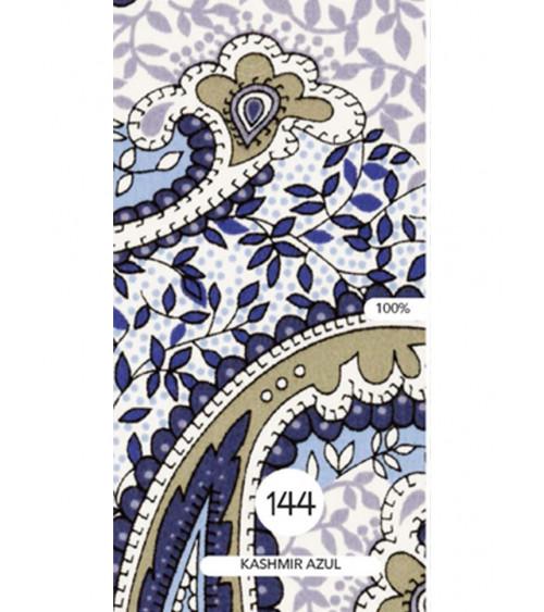 Mantel Estampado Kashmir azul.